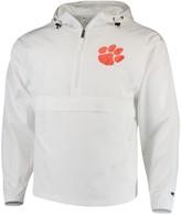 Champion Men's White Clemson Tigers Tailgate Packable Half-Zip Jacket