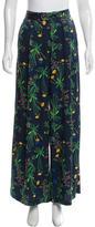 Marissa Webb Silk Floral Printed Pants