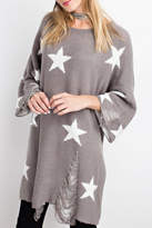Easel Distressed Star Tunic