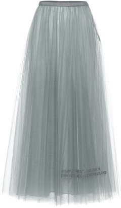 Valentino Exclusive to Mytheresa Tulle midi skirt