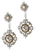 """Shoppe23 Two Tone Drop Earrings Lightweight & Gold Plated 2"""" Long Bridesmaid Jewelry"""
