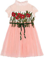 Gucci Children's silk dress with embroidery
