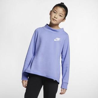 Nike Big Kids' (Girls') Fleece Crew Sportswear