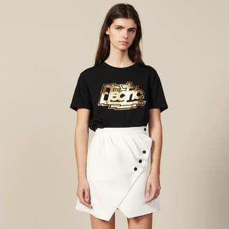 Sandro Short Wraparound Skirt