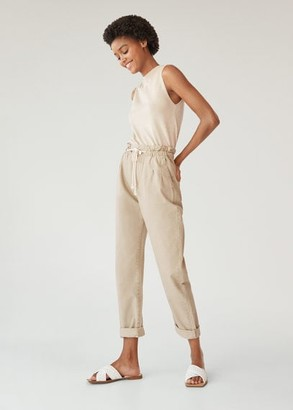 MANGO Baggy straight jeans with drawstring waist