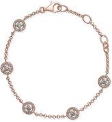 Thomas Sabo Rose Gold-Plated Sterling Silver Crystal Disc Bracelet