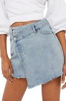 Topshop Women's Deconstructed Wrap Denim Skirt