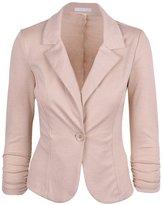 ODIAL(R) New Women Color Blazer Jacketuit Work Caual Baic Longleeve Candy Button ize