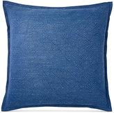 """Ralph Lauren Indigo Montauk Matelasse 18"""" Square Decorative Pillow"""
