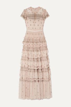 Needle & Thread Andromeda Embellished Tulle Gown - Blush