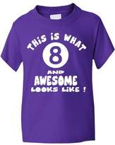 Print4u 8th/Eighth Birthday T-Shirt Childs/Childrens Girls/Boys In 6 Colours New!! 7-8