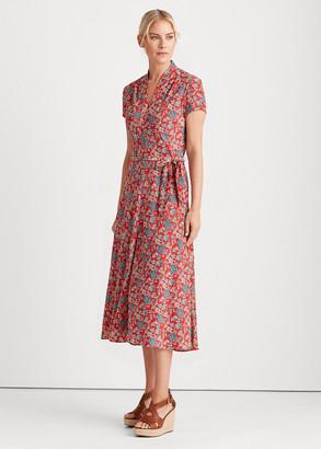 Ralph Lauren Floral Crepe Midi Dress