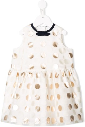 Hucklebones London Polka Dot Trapeze Dress
