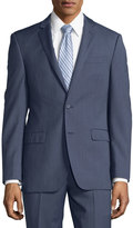 DKNY Slim-Fit Solid Wool Two-Piece Suit, Blue