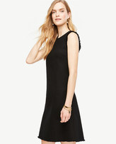 Ann Taylor Fringe Trim Shift Dress