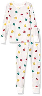 Amazon Essentials Long-sleeve Tight-fit 2-piece Pajama Set2T