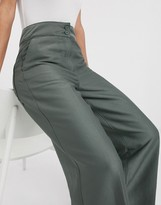Weekday Naomi wide leg pants in khaki