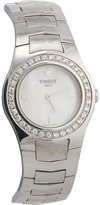 Tissot Women's 27mm Steel Bracelet & Case Anti Reflective Sapphire Quartz -Tone Dial Watch T64178681