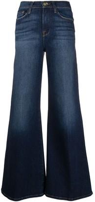 Frame Stonewashed Flared Jeans