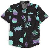 Volcom Cosmic Short Sleeve Woven Shirt (Big Boys)