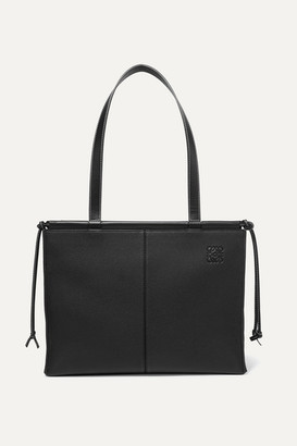 Loewe Cushion Medium Textured-leather Tote - Black