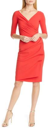 Chiara Boni Florien Ruched Cocktail Dress