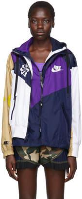 Nike Navy and Multicolor Sacai Edition NRG Ni-02 Hooded Anorak