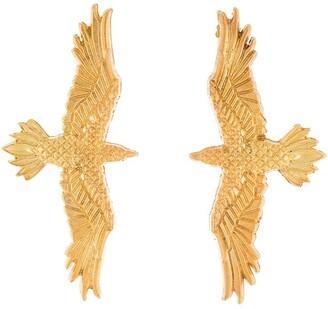 Natia X Lako large eagle earrings
