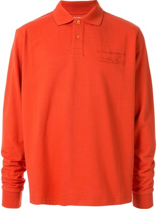 Martine Rose Long Sleeved Polo Shirt