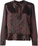 Isabel Marant peep-hole blouse - women - Silk - 38