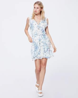 Paige TIA DRESS-ICE BLUE MULTI - TROPICAL TOIL