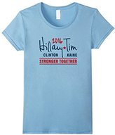 Women's Hillary Clinton Tim Kaine Signature Stronger Together Shirt XL