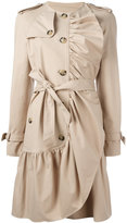 Moschino drawstring trench coat - women - Cotton/Acetate/Rayon/other fibers - 42