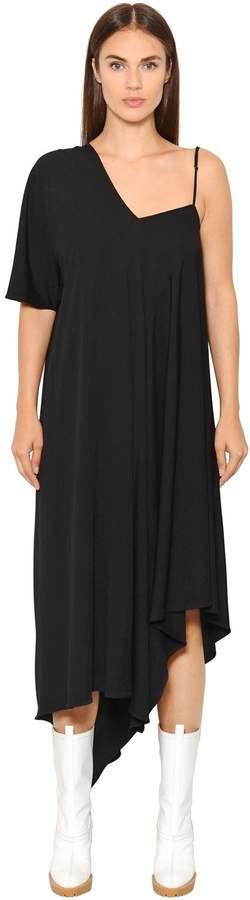 Maison Margiela Asymmetric Crepe Jersey Dress