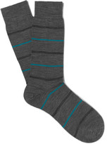 Pantherella Stanhope Striped Merino Wool-Blend Socks