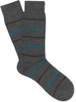Pantherella Stanhope Striped Merino Wool-Blend Socks