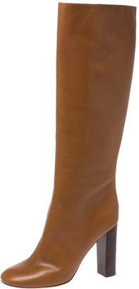 Chloé Tan Leather Knee High Boots Size 41