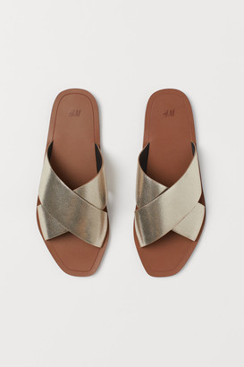 H&M Leather Slides - Brown