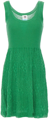 M Missoni Ribbed And Jacquard-knit Cotton Mini Dress