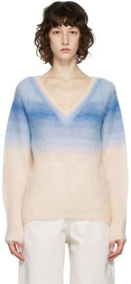 Etoile Isabel Marant Blue Ombre Delphi V-Neck Sweater