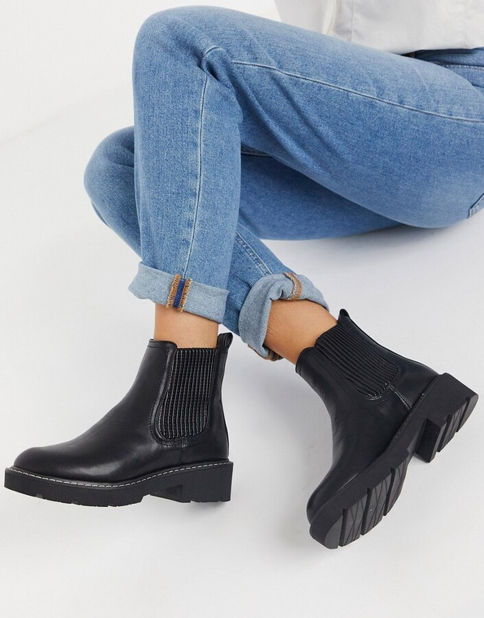 New Look ribbed ankle chunky chelsea boot