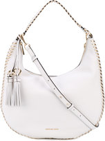 MICHAEL Michael Kors hobo shoulder bag - women - Cotton/Leather - One Size
