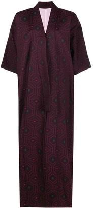 A.N.G.E.L.O. Vintage Cult 1990s Geometric Pattern Kimono Coat