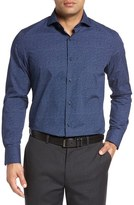 John W. Nordstrom Regular Fit Non-Iron Print Sport Shirt