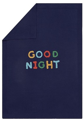 Pottery Barn Kids Sweater Knit Applique Sentiment baby Blanket