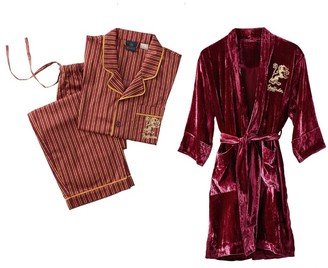 Pottery Barn Teen HARRY POTTER GRYFFINDOR Teen Pajama & Robe Set