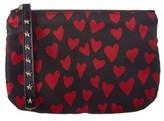 RED Valentino Heart Print Zip Clutch.