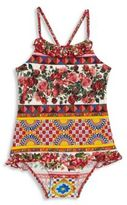 Dolce & Gabbana Toddler's, Little Girl's & Girl's One-Piece Floral-Print Swimsuit & Carrying Case