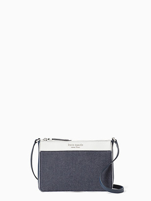 Kate Spade Cameron Denim Colorblock Medium Top Zip Crossbody