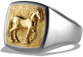 David Yurman Petrvs Horse Pinky Ring with 18K Gold